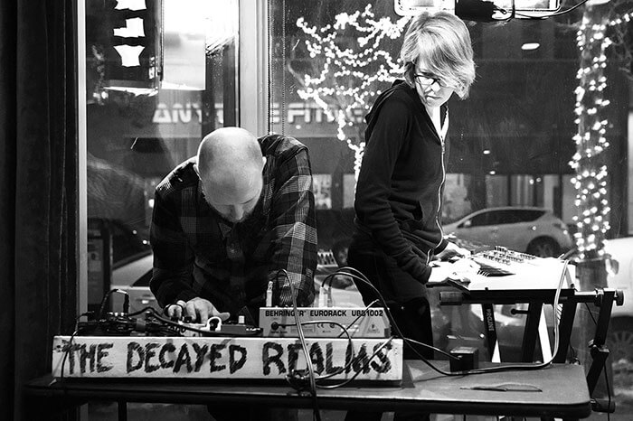 The Decayed Realms performing live electronics at Galactic Pizza